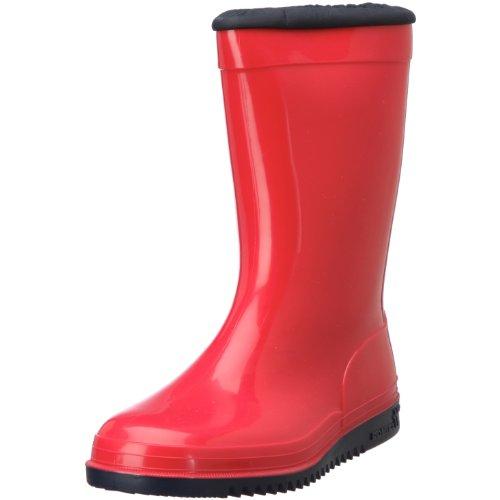 Romika Kadett   PVC Kinder Regenstiefel    Bunte Unisex-Gummistiefel für Mädchen und Jungen   Schadstofffrei   Gr. 36-42 Rot (rot-marine 401)