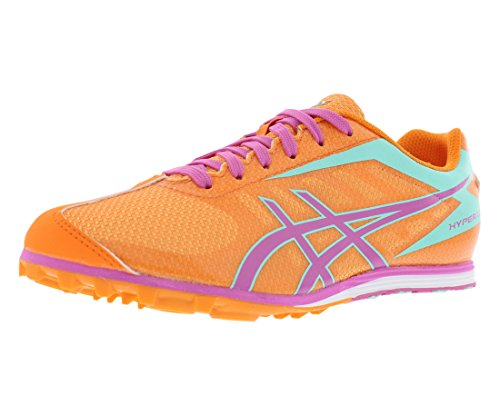 (ASICS Women's Hyper LD 5 Track And Field Shoe,Mango/Rose/Mint,9.5 M US)