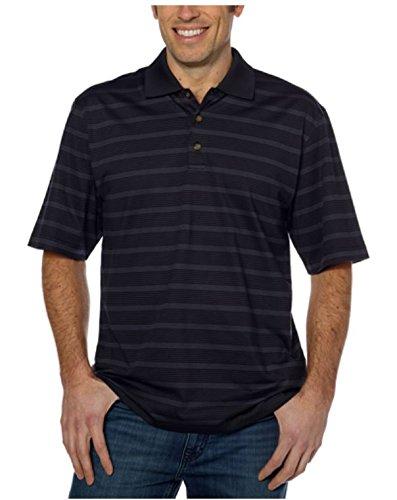 Pebble Beach Men's Performance Pima Blend Golf Shirt Black M (Pima Golf)