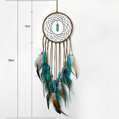 DUOER-wind chimes Handmade Dream Catcher Feather Colorful Living Room Garden Hanging Pendant Home Car Hanging Decor Dream Catcher Ornament (Color : Style 1) by DUOER-wind chimes (Image #1)