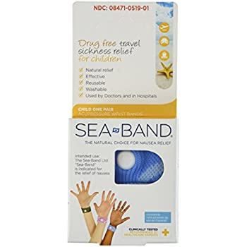 Sea Band - Child Wrist Band - One Pair *** Color Varies ***