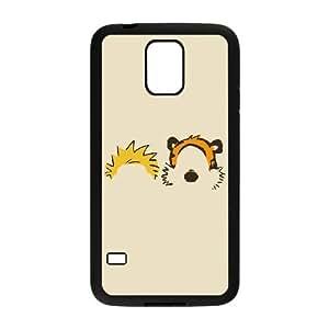 Samsung Galaxy S5 Cell Phone Case Black Calvin Hobbes Minimal Illust BNY_6712111