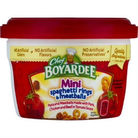 Chef Boyardee Mini Bites - Chef Boyardee Mini-Bites Spaghetti Rings & Meatballs, 7.5 oz - 6 Pack