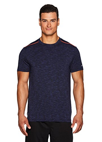 RBX Active Men's Performance Gym Athletic Short Sleeve T-Shirt Navy L