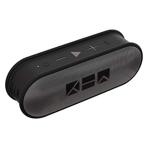 Kew Labs K1 Wireless Bluetooth Speaker - Premium Quality Sound and Bass - Portable Waterproof Pill Design - 12hr Battery Life - Featuring Built-in Mic for Calls (Grey)