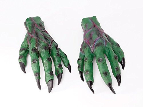 Bristol Novelty MD160 Horror Hands, Green/Black/Red, One Size