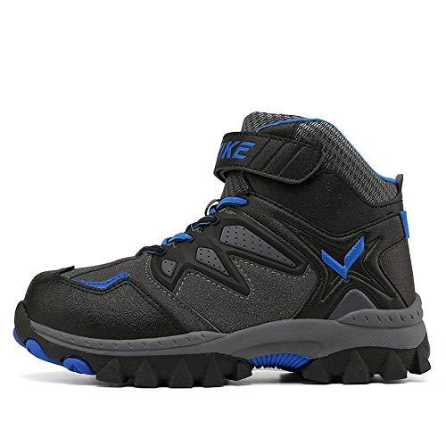 Image of Kids Hiking Boots Boys Girls Shoes Winter Snow Sneaker Outdoor Walking Antiskid Steel Buckle Sole