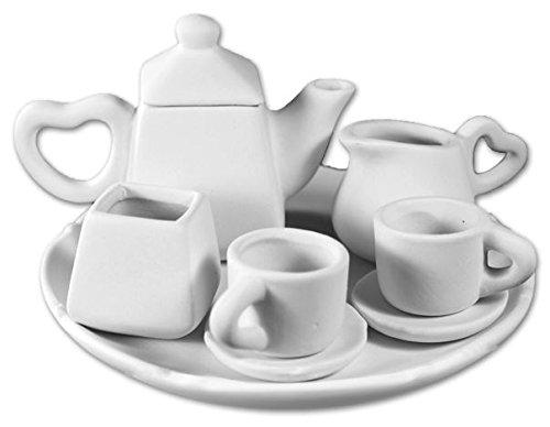 The Little Tea Party Set - Paint Your Own Ceramic Keepsake Collection -