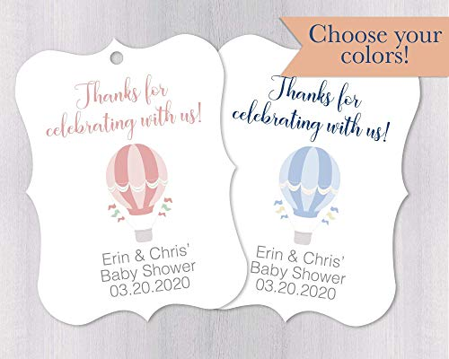 - Hot Air Balloon Baby Shower Favor Tags (EC-280-001)
