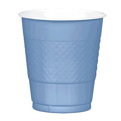 Reusable-Party-Plastic-Cups-Tableware-Pastel-Blue-16oz-Pack-of-20