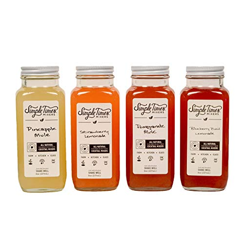 Simple Times Mixers: Real Ingredient Cocktail Mixers│Classics 4-Pack (32 Ounces)│Just Add Alcohol