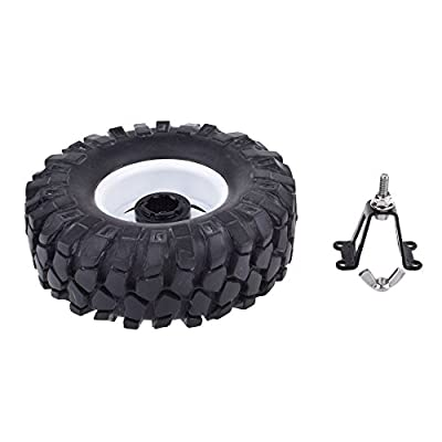 RC car Steel Spare Tire Rack for 1/10 Axial SCX10 TAMIYA RC Rock Crawler Body (Black 1Pcs): Toys & Games