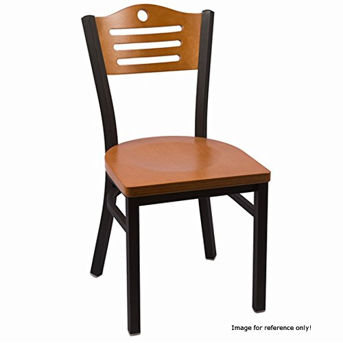 JMC Furniture Eagle Series Chair Wood with Walnut Back, Walnut Seat & Clear Coat Frame for Indoor (Wawa Wood)