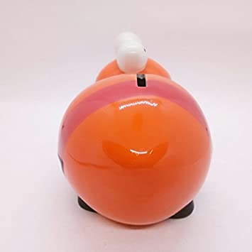 WitnyStore Piggy Bank Ceramic Miniature Hand Made and Painted Multipurpose Coin Bank and Table Decor Perfect for Gifts and Souvenirs Cute Lion Collectible Animal Art