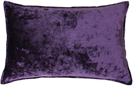 Thro by Marlo Lorenz TH014510002E 14 x 22 Ibenz Ice Velvet Pillow, Purple