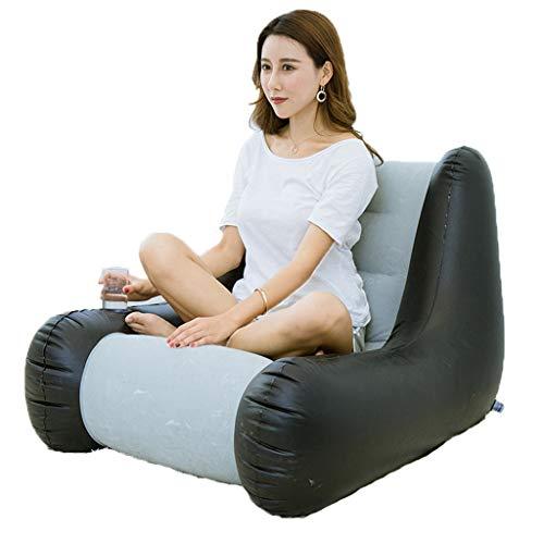 Bean 102 Bag Chair (Super Armrest. Lazy Inflatable Sofa Single Sofa Bedroom Tatami Simple Fluttering Window Chair Bean Bag Folding Sofa Transparent Inflatable Sofa Portable Sofa Chair Bed Casual air Cushion Sofa,A)