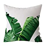 iYBUIA 17.72 X 17.72 Inch Throw Pillow Cover Cushion Case Tropical Forest Print Pillowcase Case Sofa Car Cushion Cover Home Decor