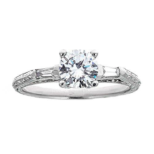 (D'amati Fine Jewelry Tacori Two-Tone Platinum & Diamond Engagement Ring)