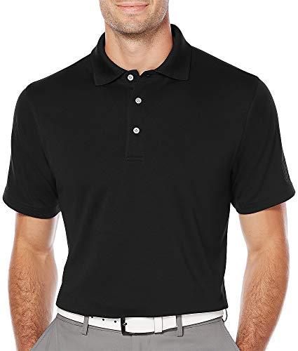 PGA TOUR Mens Big & Tall Airflux Solid Polo Shirt 3XB Caviar Black