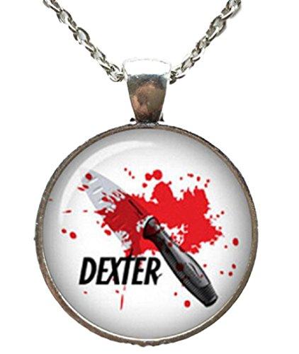 Dexter TV Series Logo Glass Domed Pendant - Dexter Glasses