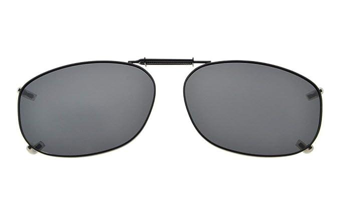 Eyekepper Marco del metal borde lente polarizada Clip sobre gafas de sol 54*37MM