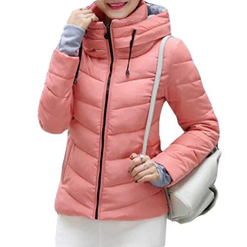 Hibote Women Lightweight Winter Slim Cotton Padded Down Jacket Coat Zip Up Warm Outwear Overcoat M-3XL 2#