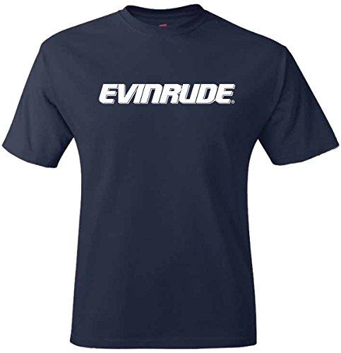 Evinrude E-Tec Outboards Navy Short Sleeve T-Shirt Medium