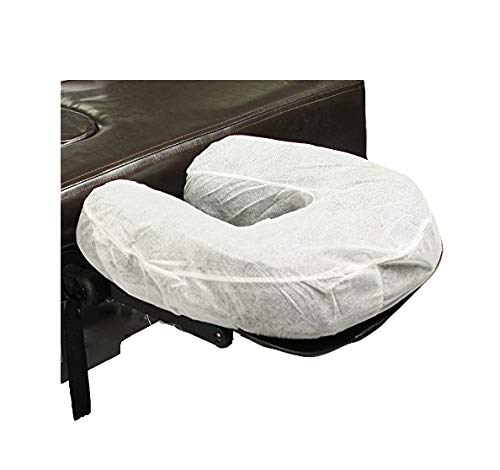 ZMDREAM Fitted Disposable Massage Headrest Covers/Face Rest Cradle Covers (white) 50 count