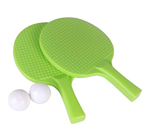Children Table Tennis Racket Leisure Sports Toy Set-Green by DRAGON SONIC
