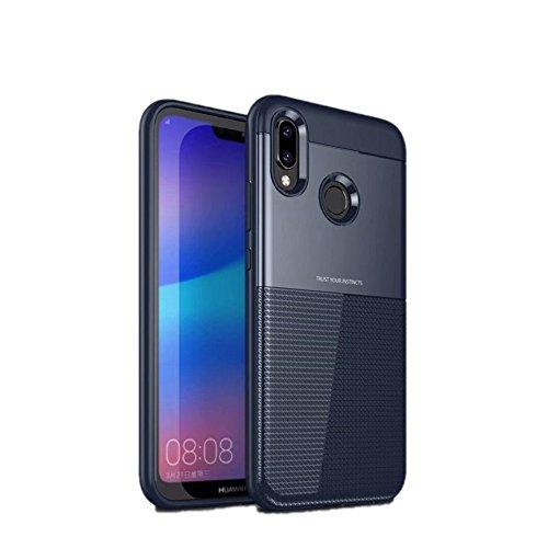 Damondy Huawei P20 Lite Case  2 In 1 Anti Slip Shockproof Armor Anti Scratch Protective Soft Tough Bumper Back Phone Case Cover For Huawei P20 Lite Blue