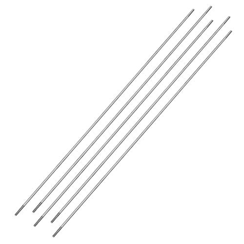 (uxcell M2x250mm Pushrod Connector Stainless Steel Rod Linkage,for RC Boat,Car,Airplane,Helicopter,5pcs)