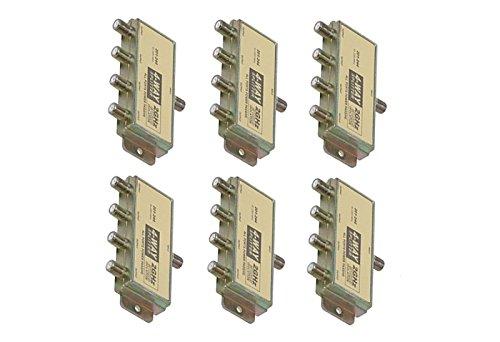 C&E CNE16439 4-Way 2.4GHz 90dB Power Pass Splitter, 6-Pack