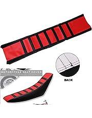 Universal Gripper Rubber Soft Motorcycle Seat Cover - CR125 CR250 CRF150F CRF150R Yamaha Kawasaki Suzuki Pit Dirt Bikes Red