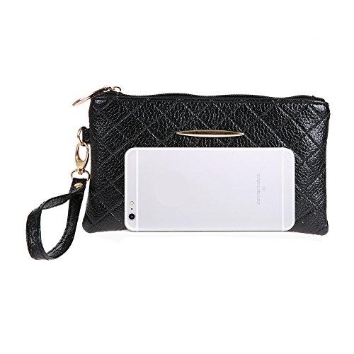 Cabina Simple Pochette Téléphone Portefeuille Mode Noir La Sac cartes Porte Main Pu Cuir En Longue Femmes À zdZgZqxp