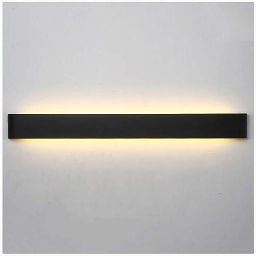 Aplique pared lampara Lámpara de Pared Moderna Minimalista LED Living Room Dormitorio Escalera Wall Studio Apliques (Color : Negro, Tamaño : 36W/90CM): Amazon.es: Hogar