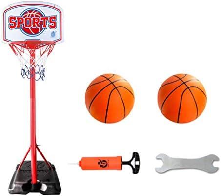バスケット、屋外の床バスケットボールの撮影フレーム、安定したベース、2.7メートルを上げると下げることができ、モバイルバスケットボールスタンド、屋内学生射撃リング、 (Color : Red 2, Size : 2.7m)
