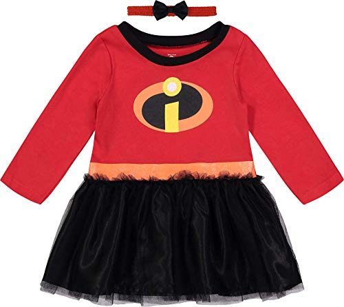 Disney Pixar The Incredibles Toddler Girls' Costume Dress with Headband, 2T -