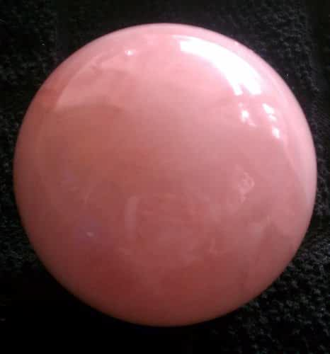 Rose Quartz Sphere & Wooden Stand