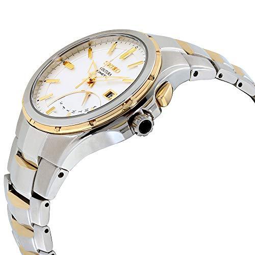 Seiko Coutura Retrograde White Dial Stainless Steel Men's Watch SRN064XG (Renewed)