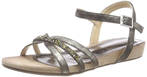 oliver Back Women''s S Sling 28112 black Black Sandals Metallic AqfPFwPS