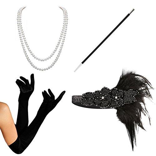 Gatsby Costumes Women (1920s Accessories set Flapper Costume-HAMIST(2017 New Design) For Women (S4-5808))