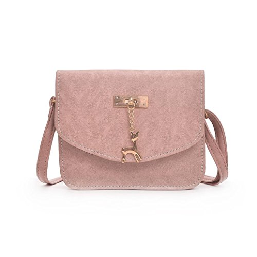 Bag Womens Shoulder Cross Small Deer Bags Inkach Leather Body Pink Messenger Handbags Tote nt6xPzP