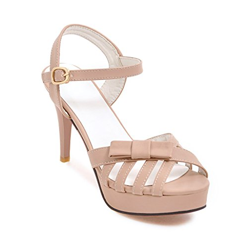 GAOLIM Señorita Pajarita Sandalias, Expuso El Alto Talón Zapatos Mujer Sandalias Tendencia. Rosa