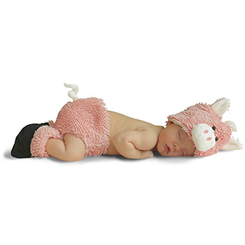 [Cuddly Piglet Diaper Cover Set Costume - Newborn Small] (Baby Piglet Costumes)