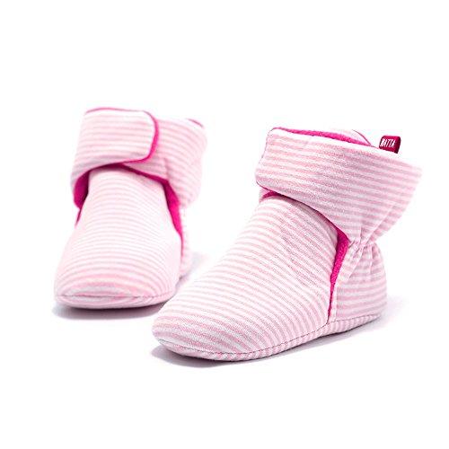 WATTA Baby Hi-Top Warm Up Fleece Lined First Pram Shoes Baby Booties - Image 2