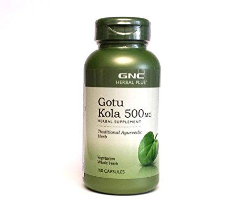 GNC Herbal plus Gotu Kola 500mg, Veggie Caps, 100 ch