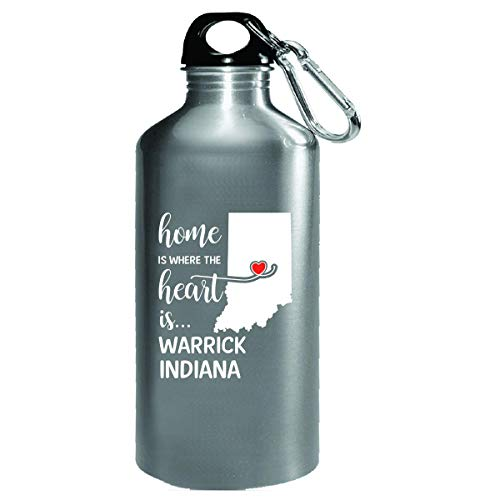 Warrick County Indiana Is Where My Heart Is Cool Gift - Water Bottle