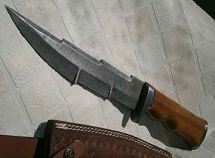 REG-197-180, Handmade Damascus Steel 13.5 inches Hunting Knife - Exotic Marindi Wood Handle by Poshland (Image #5)