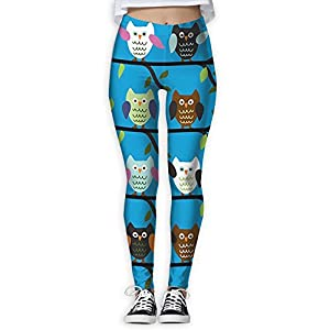 New Cartoon Owl Printing Design Compression Leggings Pants Tights For Women S-XL