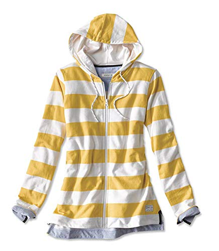 Orvis Women's Organic Cotton French Terry Full-Zip Hoodie, Sunflower, Large